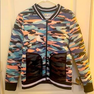 C&C California Pastel Camouflage Scuba Jacket M